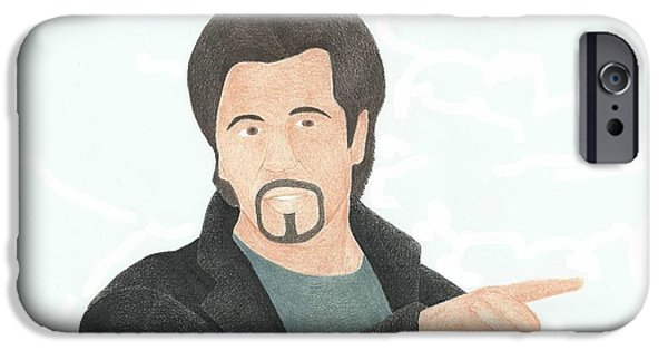 Al Pacino Drawings iPhone Cases - Al Pacino iPhone Case by Toni Jaso