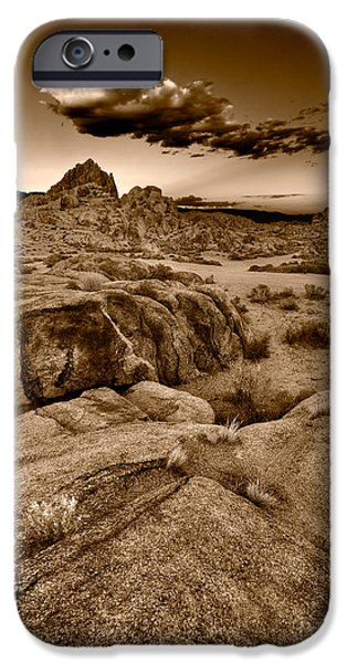 Alabama Hills California B W iPhone Case by Steve Gadomski