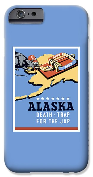 Alaska iPhone Cases - Alaska Death Trap iPhone Case by War Is Hell Store