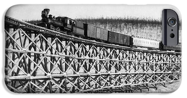 1916 Photographs iPhone Cases - Alaska: Railroad, 1916 iPhone Case by Granger