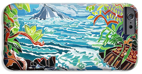 Overhang iPhone Cases - Alau Island iPhone Case by Fay Biegun - Printscapes