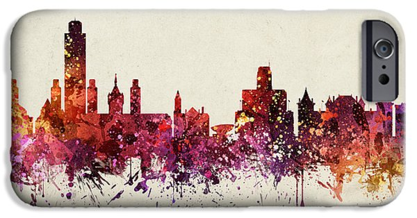 Albany iPhone Cases - Albany Cityscape 09 iPhone Case by Aged Pixel