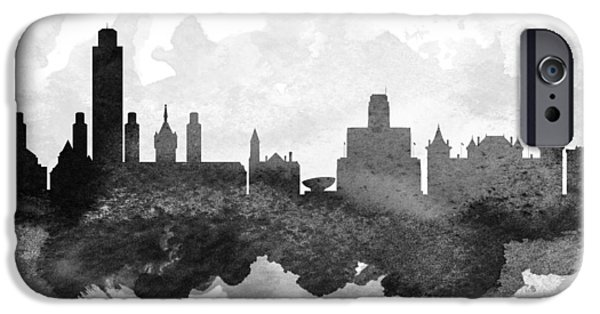Albany iPhone Cases - Albany Cityscape 11 iPhone Case by Aged Pixel