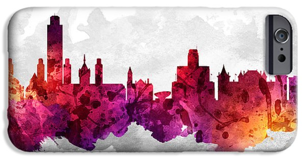 Albany iPhone Cases - Albany New York Cityscape 14 iPhone Case by Aged Pixel