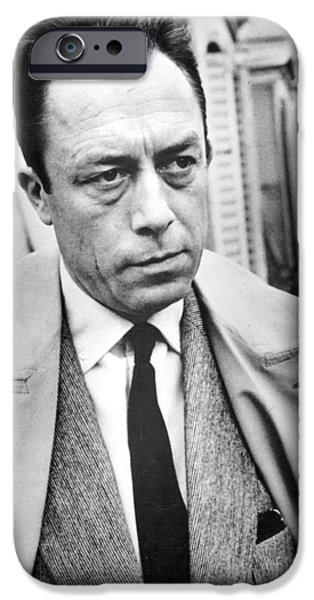 20th Century iPhone Cases - Albert Camus (1913-1960) iPhone Case by Granger