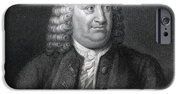 Swiss Drawings iPhone Cases - Albert De Haller 1708 To 1777 Also iPhone Case by Ken Welsh