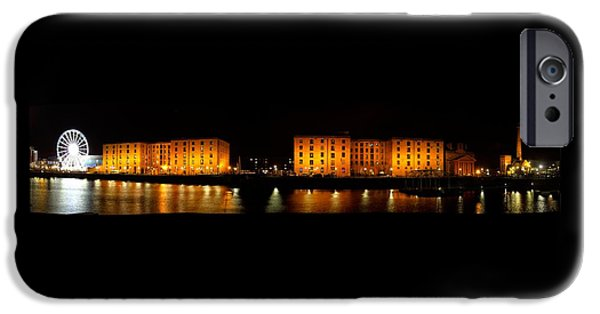 Beatles iPhone Cases - Albert Dock Liverpool Panorama iPhone Case by Steve Kearns