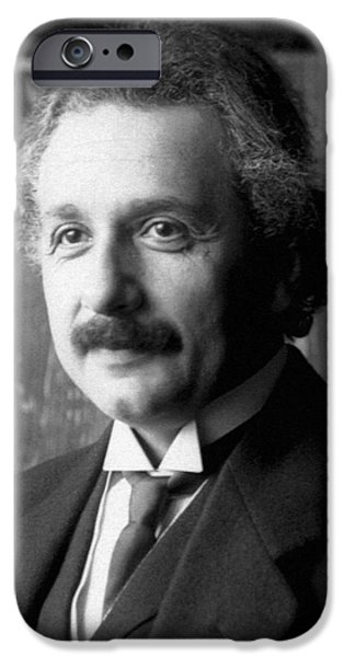 American History Pyrography iPhone Cases - Albert Einstein nel 1921 iPhone Case by Artistic Panda