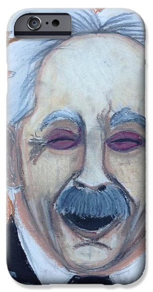 Einstein Drawings iPhone Cases - Albert Einstein iPhone Case by Regina Jeffers