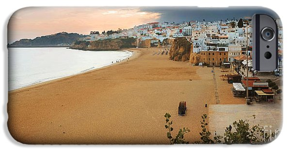 Village iPhone Cases - Albufeira Panorama iPhone Case by Carlos Caetano