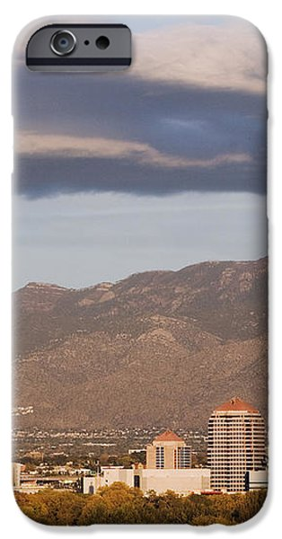 Albuquerque Skyline with the Sandia Mountains in the Background iPhone Case by Jeremy Woodhouse