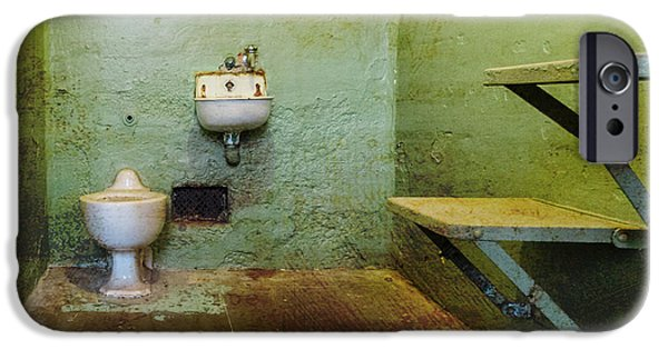 Alcatraz iPhone Cases - Alcatraz Cell 3 iPhone Case by Patti Deters
