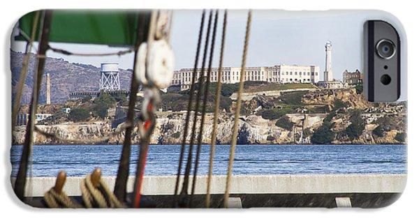 Alcatraz iPhone Cases - Alcatraz Island 1 iPhone Case by Jessica Velasco