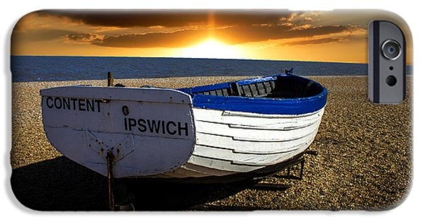 North Sea Photographs iPhone Cases - Aldeburgh Beach iPhone Case by Martin Newman