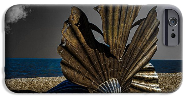 North Sea Photographs iPhone Cases - Aldeburgh Beach Shell Sculpture iPhone Case by Martin Newman