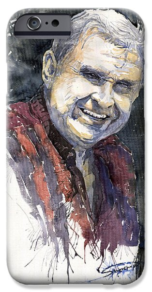Portret iPhone Cases - Alex iPhone Case by Yuriy  Shevchuk
