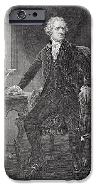 Aaron Drawings iPhone Cases - Alexander Hamilton 1755 Or 1757 To iPhone Case by Ken Welsh