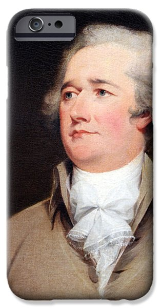 Cora Wandel iPhone Cases - Alexander Hamilton By John Trumbull Up Close iPhone Case by Cora Wandel