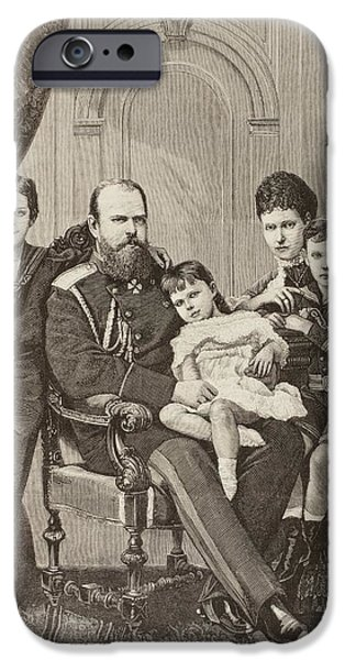Duchess iPhone Cases - Alexander Iii Of Russia And His Family iPhone Case by Vintage Design Pics