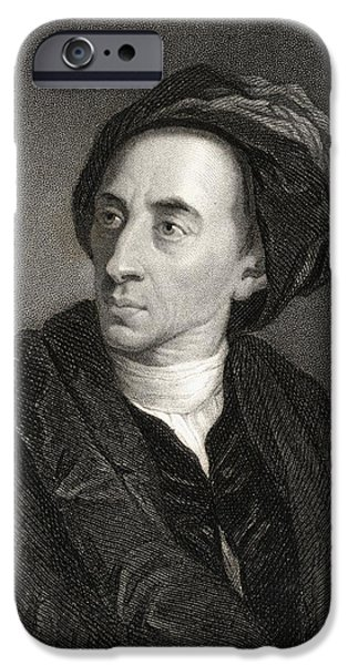 Pope Drawings iPhone Cases - Alexander Pope, 1688-1744 English Poet iPhone Case by Ken Welsh