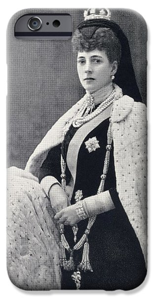Charlotte Drawings iPhone Cases - Alexandra Of Denmark, 1844 To 1925 iPhone Case by Vintage Design Pics