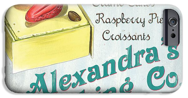 Food Stores iPhone Cases - Alexandras Baking Company iPhone Case by Debbie DeWitt