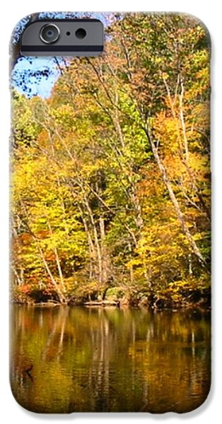 Alexandria Creek in the Fall iPhone Case by Sara  Raber