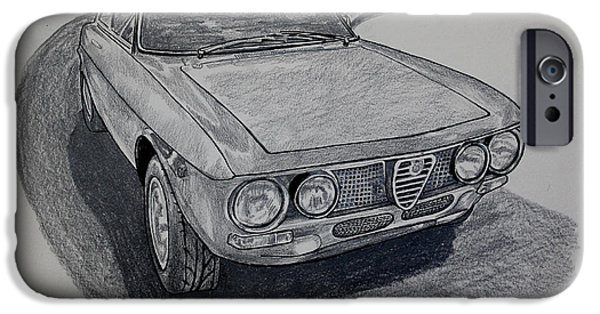 Collectible Mixed Media iPhone Cases - Alfa Romeo GTV  iPhone Case by Robert Yaeger