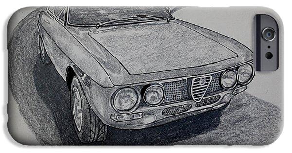 Alfa Romeo Gtv iPhone Cases - Alfa Romeo GTV  iPhone Case by Robert Yaeger