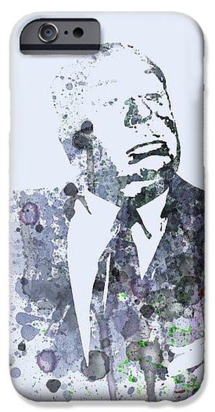 Alfred Hitchcock Birds iPhone Case by Naxart Studio