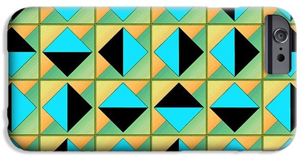 Algorithmic iPhone Cases - Algorithmic geometric art iPhone Case by Gaspar Avila