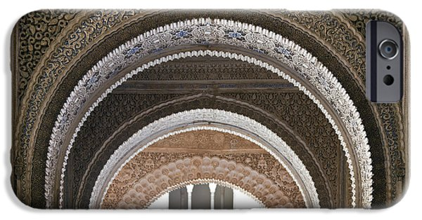 Muslim iPhone Cases - Alhambra arches iPhone Case by Jane Rix