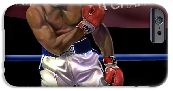 Boxer iPhone Cases - Ali - More Than A Champion iPhone Case by Reggie Duffie