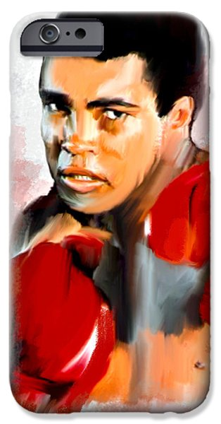 Recently Sold -  - David iPhone Cases - Ali  Muhammad Ali  iPhone Case by Iconic Images Art Gallery David Pucciarelli