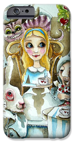 Best Sellers -  - Alice In Wonderland iPhone Cases - Alice in Wonderland 1 iPhone Case by Lucia Stewart