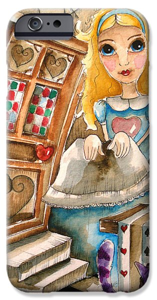 Best Sellers -  - Alice In Wonderland iPhone Cases - Alice in Wonderland 2 iPhone Case by Lucia Stewart