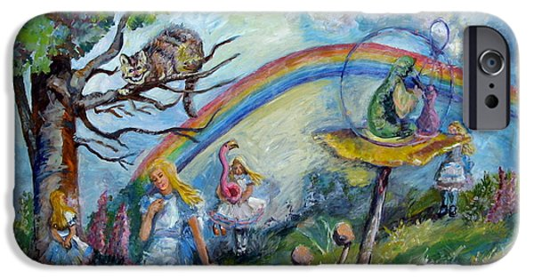 Alice In Wonderland iPhone Cases - Alice in Wonderland iPhone Case by Carole Weis