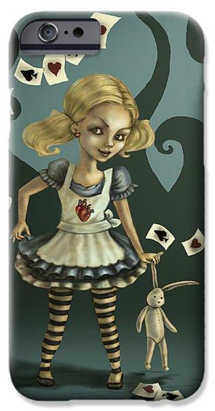 Alice In Wonderland iPhone Cases - Alice in Wonderland iPhone Case by Diana Levin