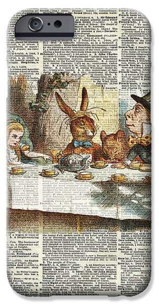 Mad Hatter iPhone Cases - Alice Morning Tea time iPhone Case by Jacob Kuch