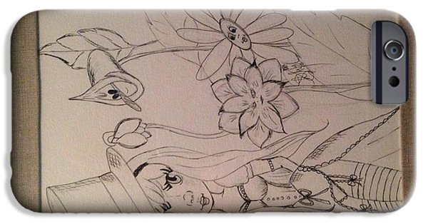 Alice In Wonderland iPhone Cases - Alice iPhone Case by Snow Scullion