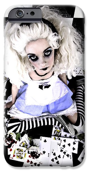 Alice iPhone Cases - Alice1 iPhone Case by Kelly Jade King