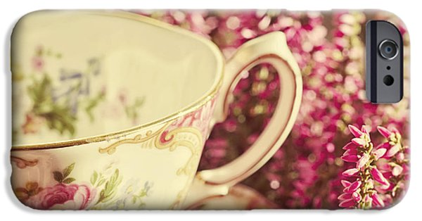Tea Party iPhone Cases - Alices Breakfast iPhone Case by Danny Van den Groenendael