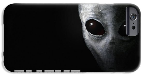 Best Sellers -  - Strange iPhone Cases - Alien Grey - Believe iPhone Case by Pixel Chimp