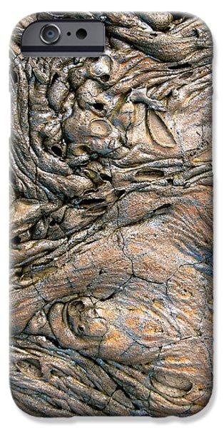 Lanscape iPhone Cases - Alien Landscape iPhone Case by Corinne Rhode