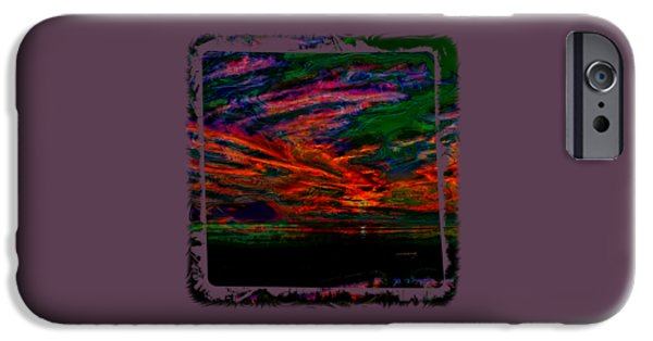 Abstract Digital Photographs iPhone Cases - Alien Nightfall iPhone Case by John Bailey