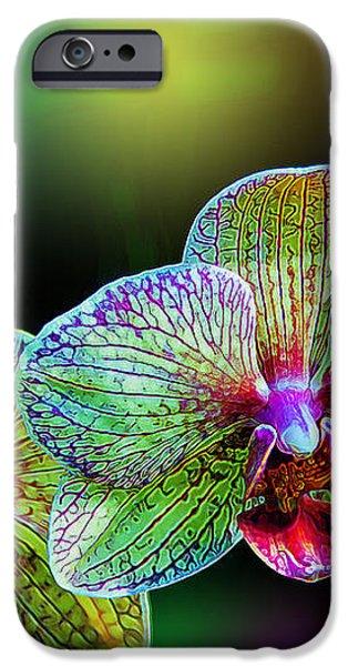 Alien Orchids iPhone Case by Bill Tiepelman
