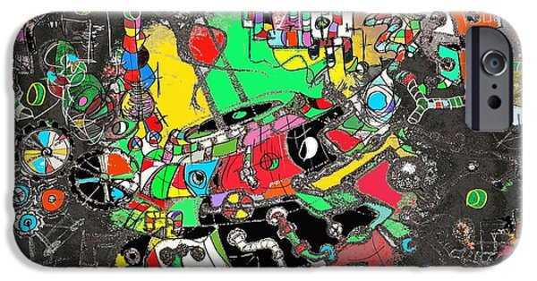Technology iPhone Cases - Alien Star Machine iPhone Case by Ricardo Mester