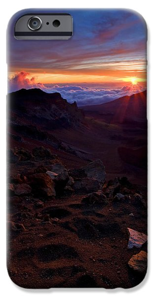 Red Rock iPhone Cases - Alien Sunrise iPhone Case by Mike  Dawson
