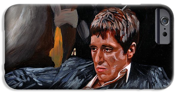 Al Pacino iPhone Cases - All about trust iPhone Case by Johannes Spiegler