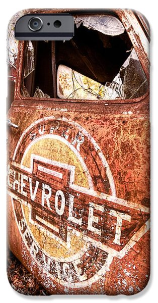 Old Cars iPhone Cases - All American iPhone Case by Debra and Dave Vanderlaan